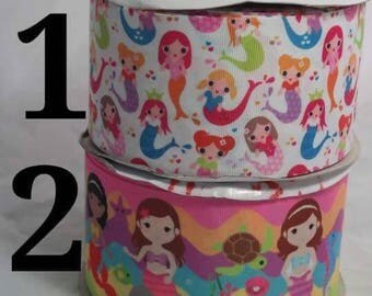 "3"" Mermaid Grosgrain Ribbon"