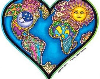 """Love the World sticker // 5"""" inch vinyl decal //"""