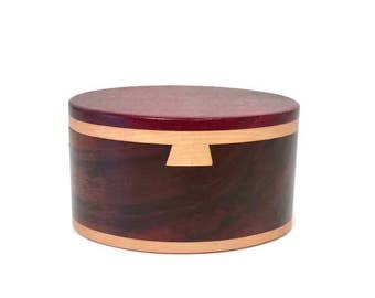 Beautifully Crafted Wooden Stash Box with Secret Opening, Sleek, Two Tone Design