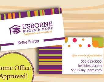 Usborne Business Cards, PRINTED CARDS ONLY Two Sided Business Card Home Office Approved