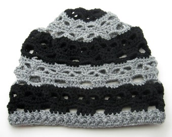 Crochet Skull Beanie Slouch Hat, PLEASE READ DESCRIPTION, Made to Order