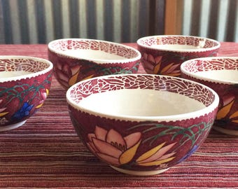Lei Lani,Metlox,Poppytrail,Vernon Kilns,Cups & Saucers,Don Blanding,Tropical Cup,Collectible Cup,40s Cup,Retro China Cup,Flower China Cup