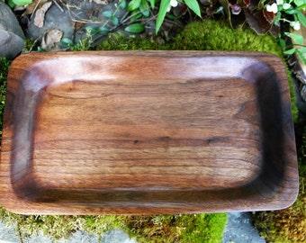 Carved Black Walnut Tray