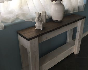 Superb Sofa Side Table (reclaimed Wood Side Table, Wood Table, Small Wood Table,