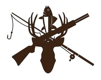 Hunting/Fishing Window Decal