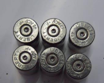 45 shell, 45, 45 auto, 45 bullet casings, 45 bullet shells, empty bullet casings, 45 bullet shells, nickel casings, bullet nickel casing