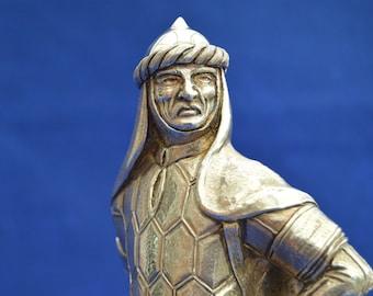 Large Solid Sterling Silver Garrards Figure of Saladin - London 1992 - Arabic Arab Islamic Islam - Sultan Egypt Syria Iraq Middle East