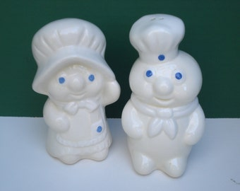 SALE - Pillsbury Poppin Fresh and Poppie Salt and Pepper Shakers