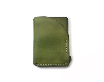 Trifold leather wallet green