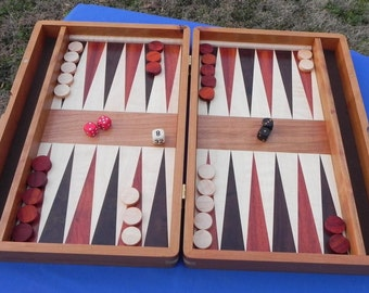 Handcrafted Cherry Backgammon Board