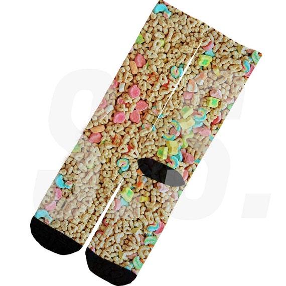 custom socks lucky charms pot of gold cereal breakfast