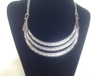 Silver Choker necklace. Handmade. Necklace. Fantasy jewelry. Halskette. Pendant.