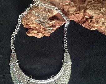 Silver Choker necklace. Handmade. Fantasy jewelry. Necklace. Pendant