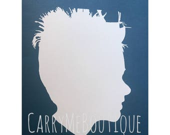 Child Silhouette CARD STOCK cutout ONLY