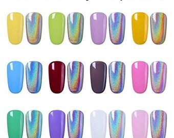 35 Micron Unicorn Powder SpectraFlair Alternative Silver Holographic For Chrom Nails, Nail Art, Polish, Cosmetics