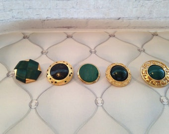 Set of 5 bling fancy buttons