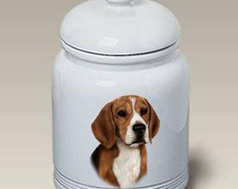 Beagle Ceramic Treat Jar