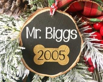 Dog Ornament, Dog Lover Ornament, Wood Slice Ornament, Pet Ornament, Ornament for Pets, Christmas Gift for Dog Lover,  Cat Ornament
