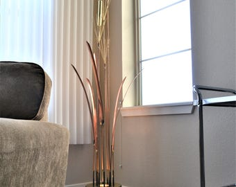 Curtis Jere Sculpture | C Jere Lamp | Mid Century Modern Lamp| Vintage Cattail Lamp | Brutalist Art | Mid Century Sculpture | Art Sculpture