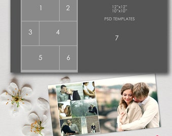 12x12, 10x10 Story Board Template, Photoshop, psd files - INSTANT Download - T11