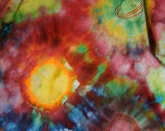 XL Planetary Fantasy Tshirt Hand Tie Dye Pattern