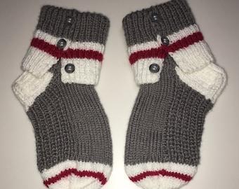Knitting Pattern For Sock Monkey Mittens : Dorm slippers Etsy