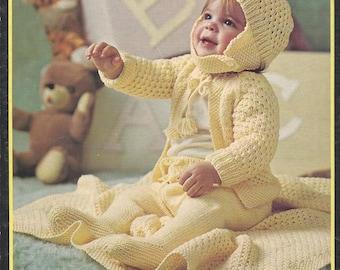 Brunswick Bulky Baby Garments vintage baby knit crochet sets instant download knitting pattern
