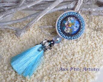"Pendant ""Sabi"" blue dragonfly"