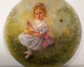 "Vintage Wall Plate ""Little Miss Muffet"" by John McClelland"