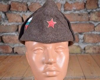 Vintage hat - Military hat - Military cap - Red star hat - Soldier hat - Winter hat - WW2 model cap - Military winter hat - Ushanka hat