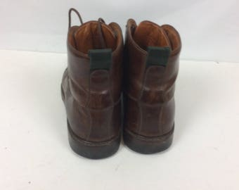 Vintage Cole Haan Men's Brown Leather Boots Size 9.5