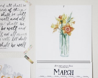 CLEARANCE - Imperfect 2017 Floral Wall Calendars from the First Draft