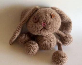 Super soft hand knit bunny