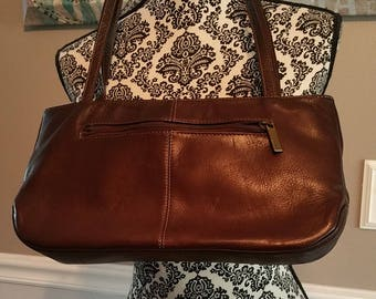 Leather Handbag Made in Columbia South America. Clean inside and out.