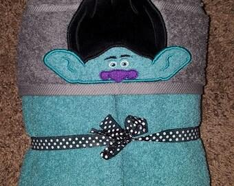 Branch hooded towel, Troll hooded towel