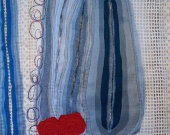 Fibre art/textile art, wall hanging - Transparencies II