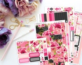 Be Mine Horizontal Weekly Kit-- Matte Planner Stickers