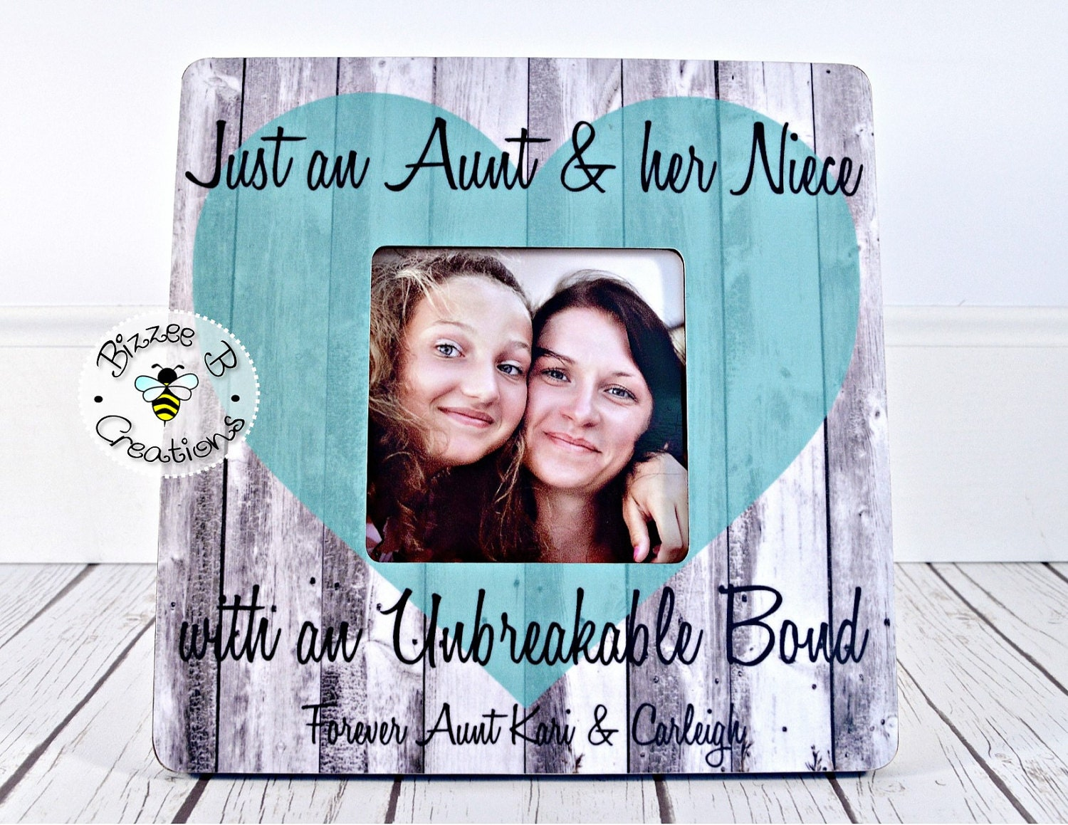 ON SALE Custom Picture Frame Gift Aunt & Niece Picture Frame