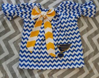 St. Louis Blues Peasant Dress