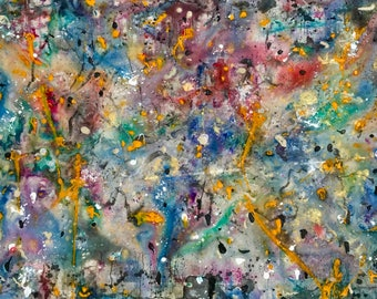 """45"""" x 64"""" original abstract painting"""