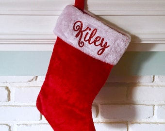 Personalized Christmas Stocking, Custom Stocking, Pet Stocking, Monogram Stocking. Get before christmas~!