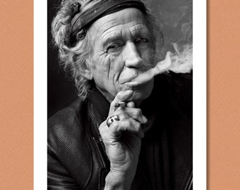 KEITH RICHARDS - Portrait outtake, NYC 2011 --- The Rolling Stones --- Giclée/Photo print