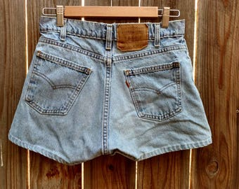"Vintage 80's Levis Women's Shorts 560 Orange Tab High Waist 29"" 5 7"