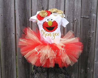 Monster birthday tutu outfit