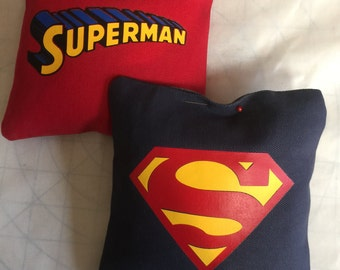 Superman cornhole bags