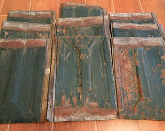 1900's Salvaged Tin Roof Tiles