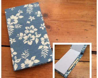 Handmade Pale Blue Jotter Notebook with Pencil