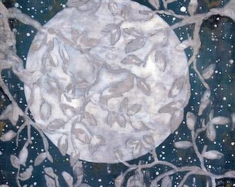 Super Moon Print: Acrylic Painting
