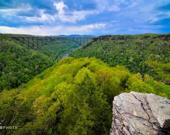 Fine Art Nature Photography, Wall Art, Landscape Fine Art Print, West Virginia, Photo Print, West Virginia Art, New River Gorge, Long Point