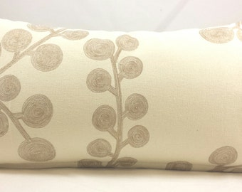 "Small Lumbar Cushion Cover. Fits a 12"" x 20"" pillow insert."